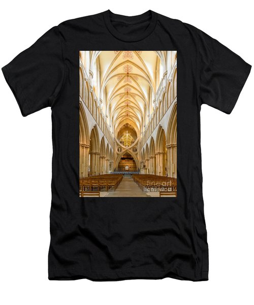 Wells Cathedral Nave Men's T-Shirt (Athletic Fit)