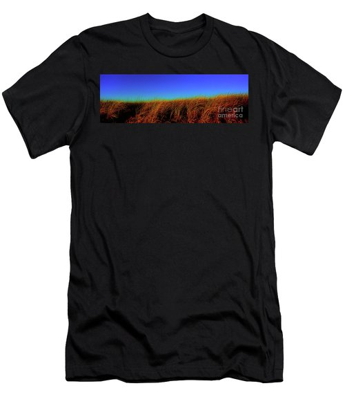 Wells Rachel Carson Wildlife Refuge Grass And Dunes Men's T-Shirt (Athletic Fit)