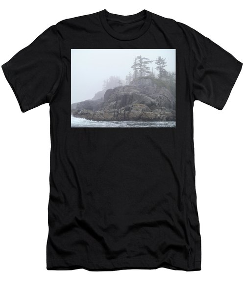 West Coast Landscape Ocean Fog I Men's T-Shirt (Athletic Fit)