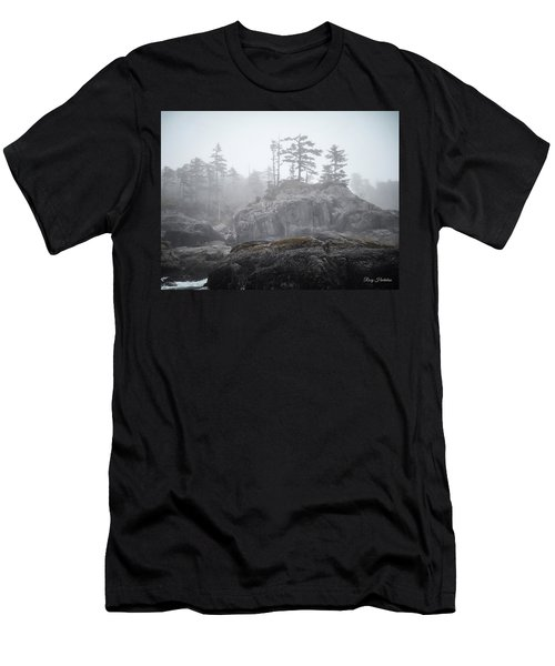 West Coast Landscape Ocean Fog IIi Men's T-Shirt (Athletic Fit)
