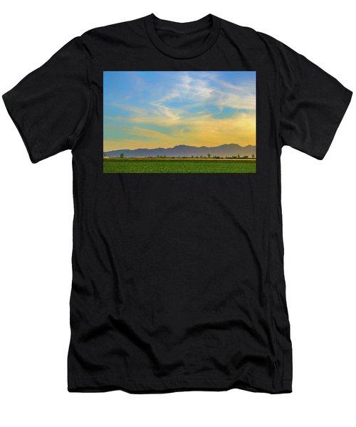 West Phoenix Sunset Digital Art Men's T-Shirt (Athletic Fit)