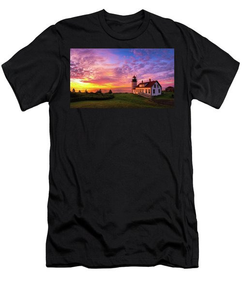 West Quoddy Head Light Men's T-Shirt (Athletic Fit)