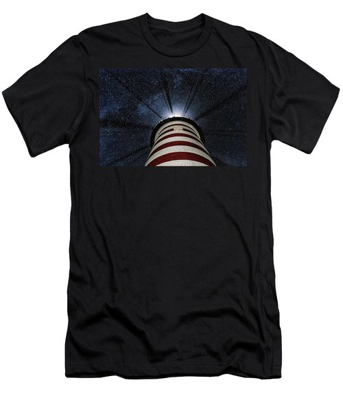 West Quoddy Head Lighthouse Night Light Men's T-Shirt (Athletic Fit)