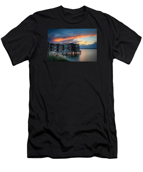 Men's T-Shirt (Slim Fit) featuring the photograph West Seattle Living by Dan Mihai