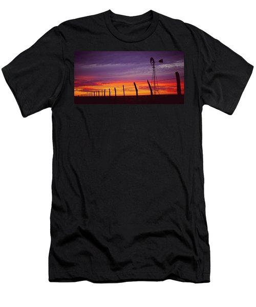 West Texas Sunset Men's T-Shirt (Athletic Fit)