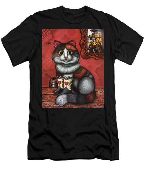 Western Boots Cat Painting Men's T-Shirt (Athletic Fit)