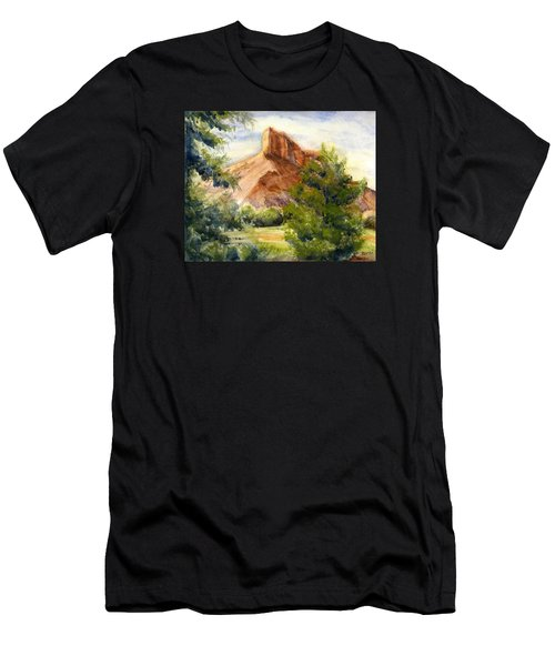 Western Landscape Watercolor Men's T-Shirt (Athletic Fit)