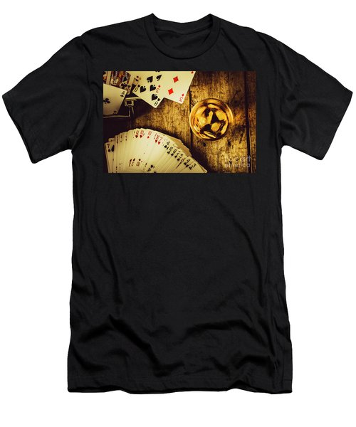 Western Straight Shooter  Men's T-Shirt (Athletic Fit)