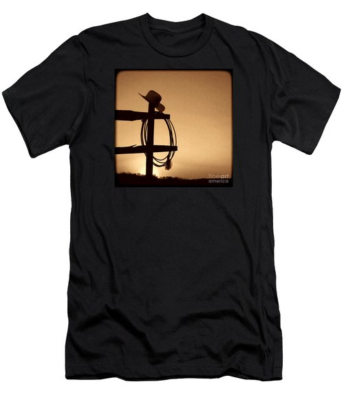 Western Sunset Men's T-Shirt (Slim Fit) by American West Legend By Olivier Le Queinec