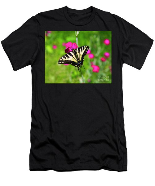 Western Tiger Swallowtail Butterfly Men's T-Shirt (Athletic Fit)