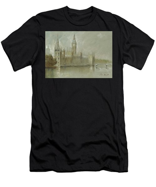 Westminster Palace And Big Ben London Men's T-Shirt (Athletic Fit)
