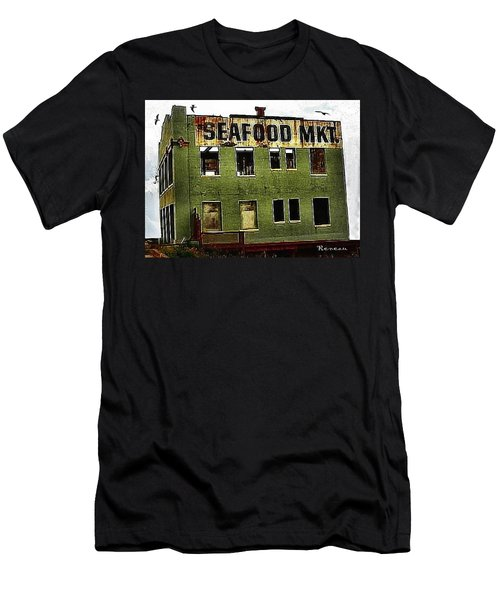 Men's T-Shirt (Slim Fit) featuring the photograph Westport Washington Seafood Market by Sadie Reneau