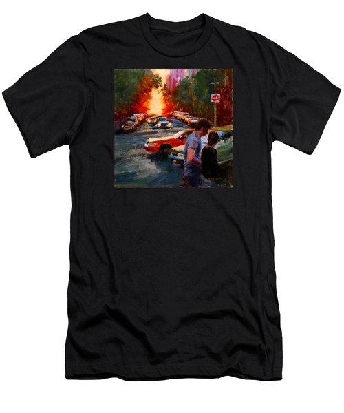Westside Sunset No. 3 Men's T-Shirt (Athletic Fit)