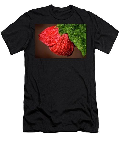 Wet Flower-abutilon Men's T-Shirt (Athletic Fit)