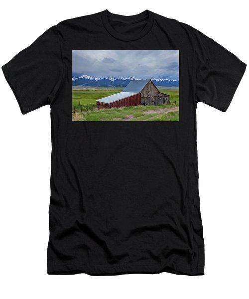 Wet Mountain Valley Barn Men's T-Shirt (Athletic Fit)