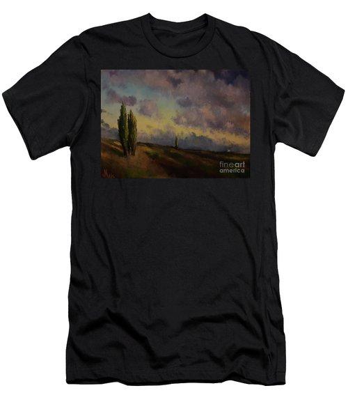 Wet Sky Men's T-Shirt (Slim Fit) by Maja Sokolowska