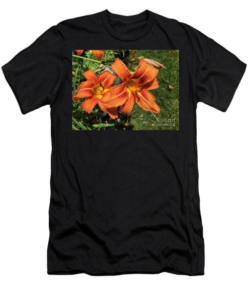 Wet Tiger Llilies Men's T-Shirt (Athletic Fit)