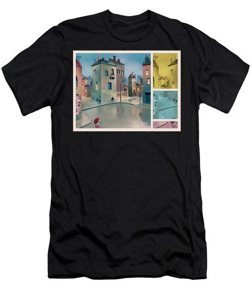 Wet Town Men's T-Shirt (Athletic Fit)