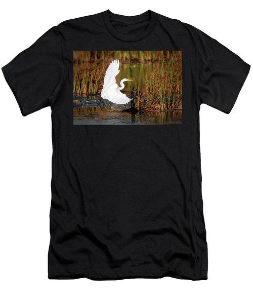 Wetland Landing Men's T-Shirt (Slim Fit) by Ray Congrove