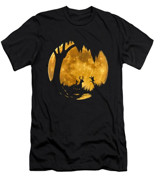 Wetland Wildlife Massive Moon .png Men's T-Shirt (Slim Fit) by Al Powell Photography USA