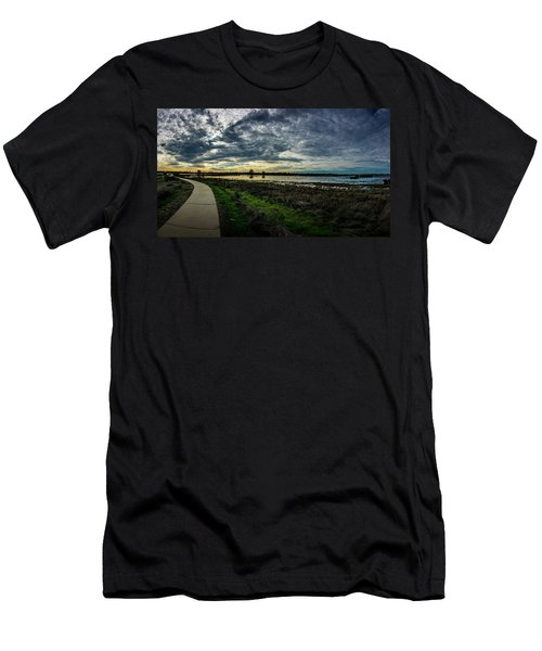 Wetlands Sunset Panorama Men's T-Shirt (Athletic Fit)