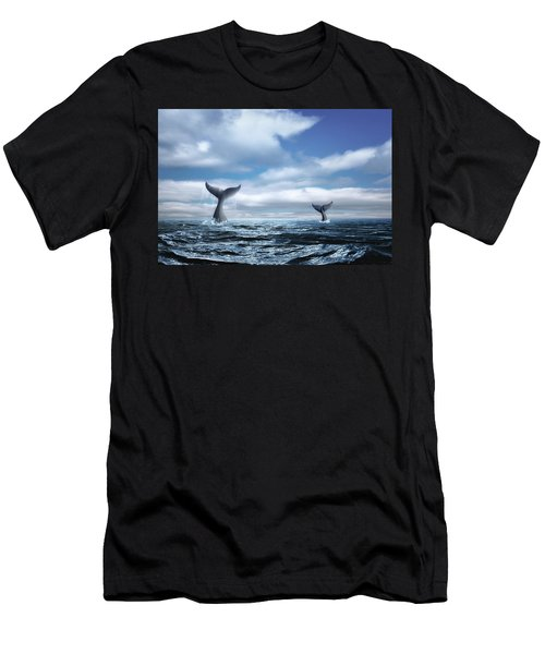 Whale Of A Tail Men's T-Shirt (Athletic Fit)