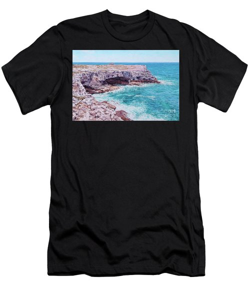 Whale Point Cliffs Men's T-Shirt (Athletic Fit)
