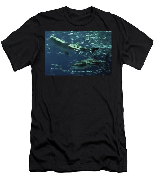 Whale Shark Couple Men's T-Shirt (Athletic Fit)