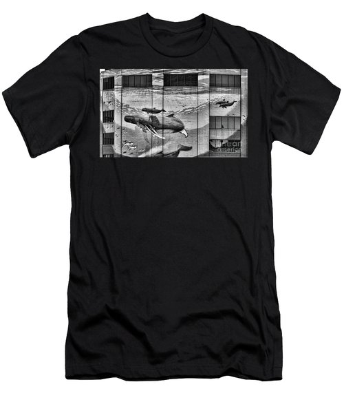 Whales Mural Building Penn Men's T-Shirt (Athletic Fit)