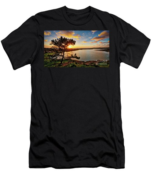 What A Glow At The Batiquitos Lagoon Men's T-Shirt (Athletic Fit)