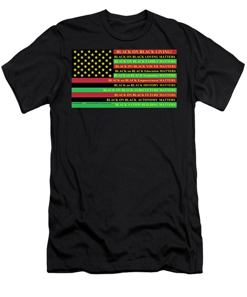 What About Black On Black Living? Men's T-Shirt (Athletic Fit)
