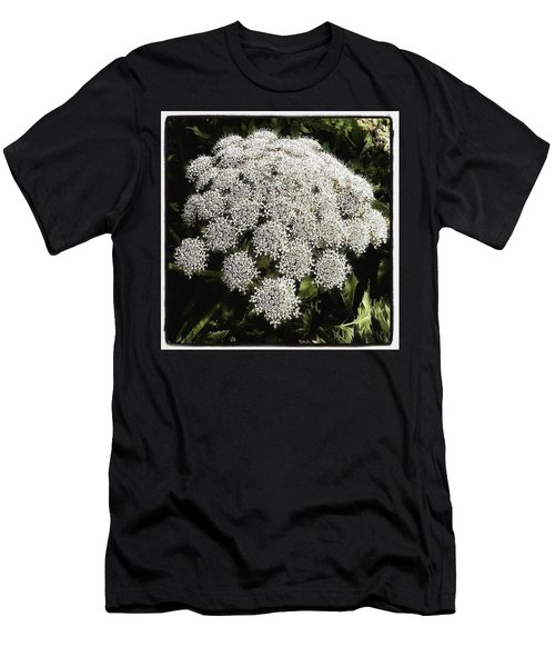 Men's T-Shirt (Athletic Fit) featuring the photograph What Flower Is This? I Think It's by Mr Photojimsf