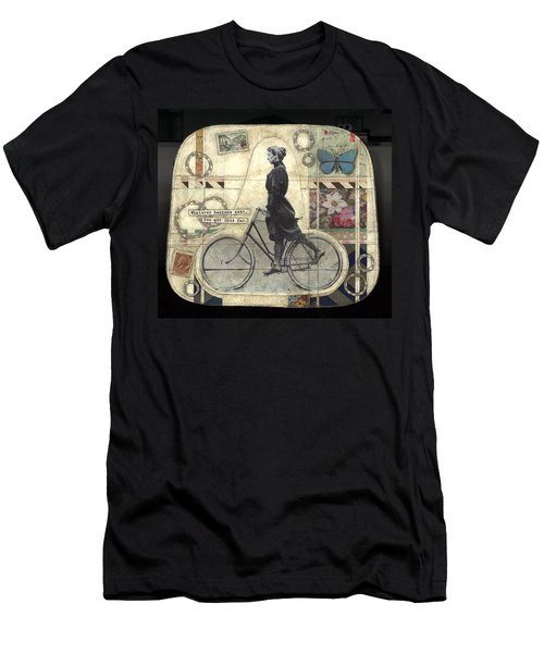 Men's T-Shirt (Slim Fit) featuring the painting Whatever Happens by Casey Rasmussen White