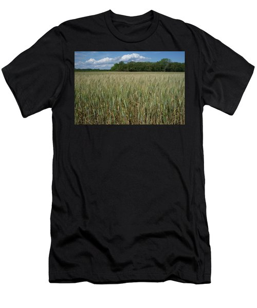 Men's T-Shirt (Athletic Fit) featuring the photograph Wheat Field by Frank DiMarco