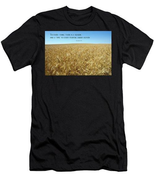 Wheat Field Harvest Season Men's T-Shirt (Athletic Fit)