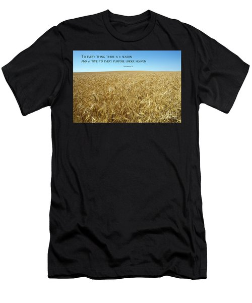 Wheat Field Harvest Season Men's T-Shirt (Athletic Fit)