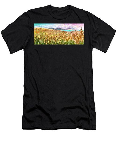 Wheat Landscape Men's T-Shirt (Athletic Fit)