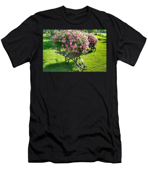 2004 - Wheel Barrow Full Of Flowers Men's T-Shirt (Athletic Fit)
