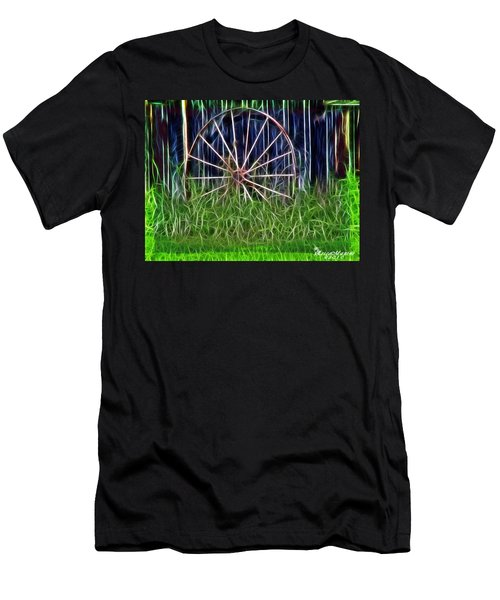 Wheel Of Fortune Men's T-Shirt (Slim Fit) by EricaMaxine  Price