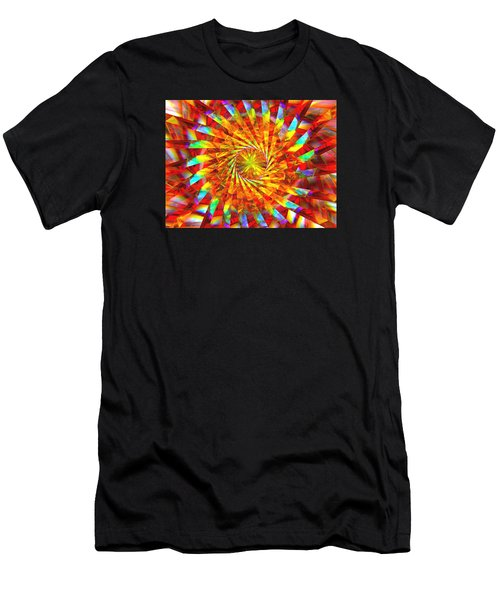 Men's T-Shirt (Slim Fit) featuring the digital art Wheel Of Light by Andreas Thust