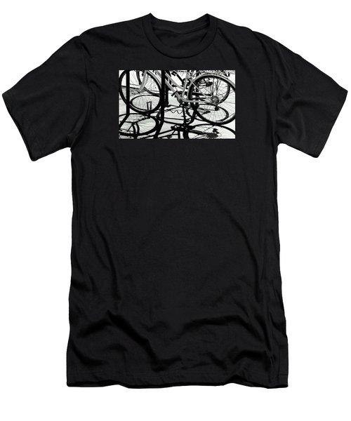 Wheels Men's T-Shirt (Slim Fit) by David Gilbert