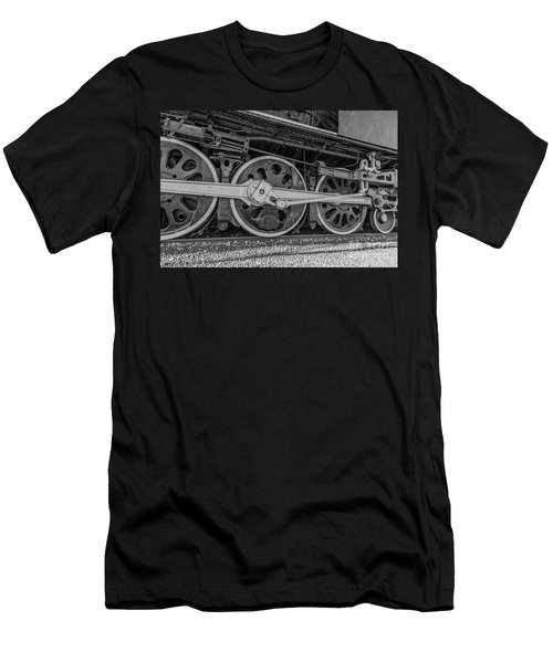 Wheels On A Locomotive Men's T-Shirt (Athletic Fit)