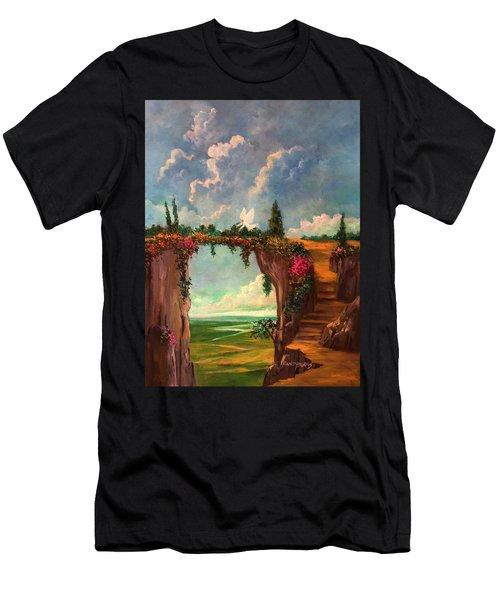 When Angels Garden In Heaven Men's T-Shirt (Athletic Fit)
