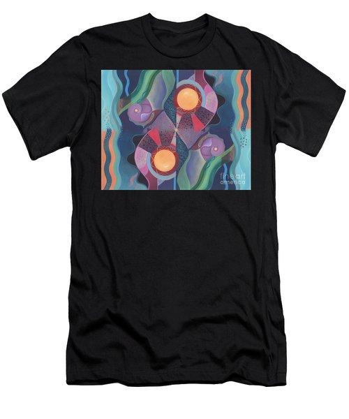 When Deep And Flow Met Men's T-Shirt (Athletic Fit)