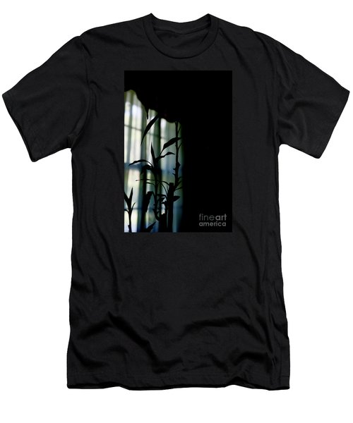 Men's T-Shirt (Slim Fit) featuring the photograph When It Wears The Blue Of May by Linda Shafer