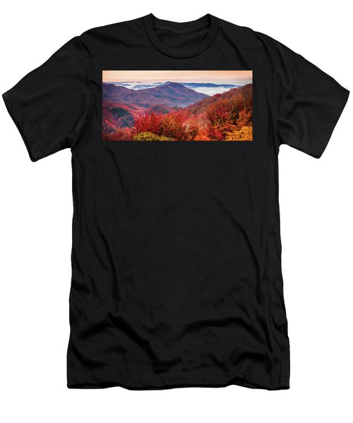 Men's T-Shirt (Slim Fit) featuring the photograph When Mountains Sing by Karen Wiles