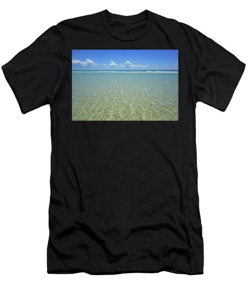 Where Crystal Clear Ocean Waters Meet The Sky Men's T-Shirt (Athletic Fit)