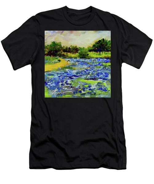 Where The Beautiful Bluebonnets Grow Men's T-Shirt (Athletic Fit)