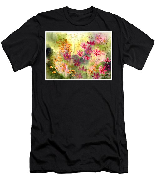 Where The Pink Flowers Grow Men's T-Shirt (Athletic Fit)