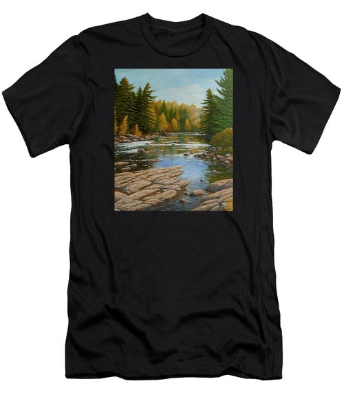 Where The River Flows Men's T-Shirt (Athletic Fit)